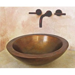Nojoqui Large Copper Above Counter Vessel