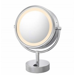 Double-Sided LED Lighted Free Standing Mirror 725