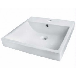 Madeli Above Counter Rectangular Ceramic Basin CB-7120-WH