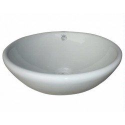 Madeli Above Counter Round Ceramic Basin CB-805-WH